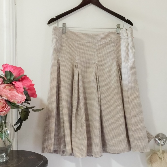 50% OFF Gingham cotton and linen skirt